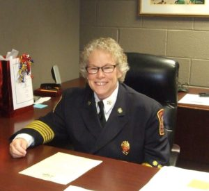 Chief Metz at desk